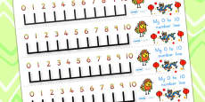 Australia - Chinese New Year Number Line 0-10
