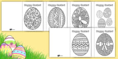 Easter Egg Mindfulness Greetings Cards