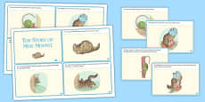 The Story of Miss Moppet Story Cards