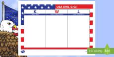 USA Topic KWL Grid