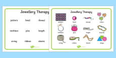 Jewellery Therapy Word Mat