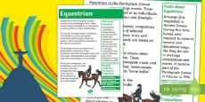 Australia Rio Paralympics 2016 Equestrian Display Poster