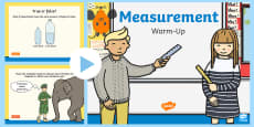 Year 2 Measurement Warm-Up PowerPoint