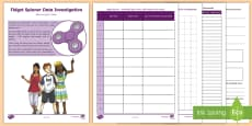 * NEW * Fidget Spinner Data Investigation Activity Booklet