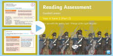 Year 6 Reading Assessment Poetry Term 2 Guided Lesson PowerPoint