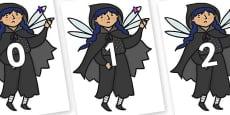 Numbers 0-31 on Evil Fairy