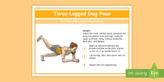 * NEW * Yoga Three-Legged Dog Pose Step-by-Step Instructions