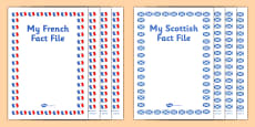 My French Fact File Pack