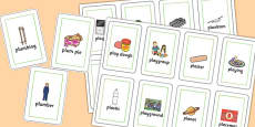 Two Syllable PL Sound Playing Cards