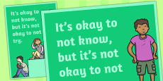 It's Okay to Not Know Classroom Poster
