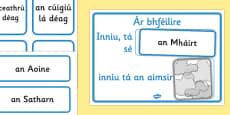 Weather Calendar Gaeilge