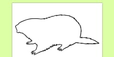 Groundhog Shadow Puppet Template