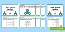 Fidget Spinner KS1 Spelling Challenge Cards