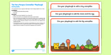 Playdough Activity Busy Bag Resource Pack For Parents to Support Teaching on The Very Hungry Caterpillar