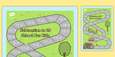 Subtraction Bus Board Game