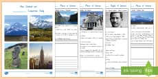 New Zealand and Another Country Comparison Study Activity Booklet