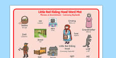 Little Red Riding Hood Word Mat Polish Translation
