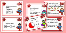 Year 3 Maths Challenge Cards