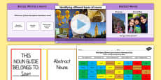 Identifying Different Types of Nouns Lesson Teaching Pack