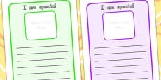 Australia - I Am Special Worksheets