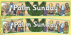 Palm Sunday Display Banner