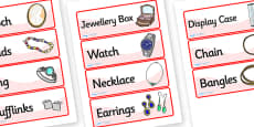 Jewellery Shop Role Play Labels