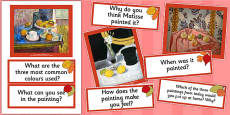 Matisse Paintings Photopack and Prompt Questions