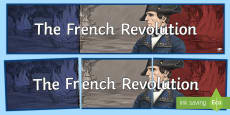 The French Revolution Display Banner