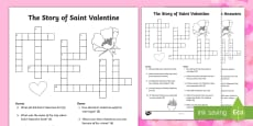 The Story of Saint Valentine Crossword