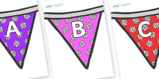 A-Z Alphabet on Bunting (Flowers 2)