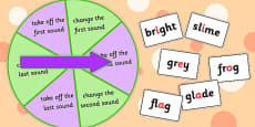 Phoneme Manipulation Spinner Game Blends