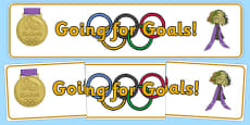 The Olympics Going for Goals Display Banner