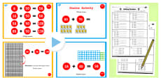 Year 2 Adding 2 Digit Numbers and Tens Crossing 100 With Same 10s Lesson Teaching Pack