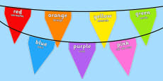 Colours on Bunting Portuguese Translation