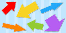 Directional Arrows Cut Outs Pack