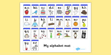 Lowercase and Precursive Alphabet Mat