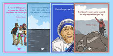 Mother Teresa Quotations Poster Pack