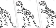 Numbers 0-50 on Dinosaur Skeletons