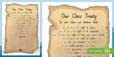 Waitangi Day Classroom Treaty Display Poster