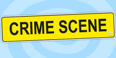 Crime Scene Role Play Banner