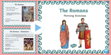 1 Week Romans Topic Morning Activities LKS2