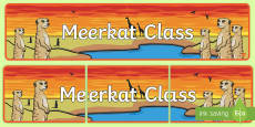 Meerkat Themed Classroom Display Banner