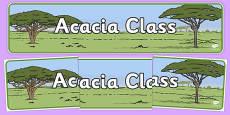 Acacia Class Display Banner