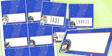 Space Themed Birthday Party Place Names