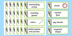 Woodpecker Themed Maths Area Word Cards
