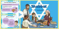 Pŵerbwynt am Shabbat (Y Saboth)