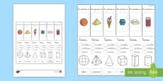 * NEW * Ayuda visual: Las propiedades de las figuras 3D
