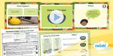 PlanIt - D&T KS1 - Sensational Salads Lesson 5: Making a Fish Salad Lesson Pack