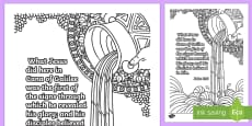 * NEW * John 2 11 Mindfulness Colouring Page