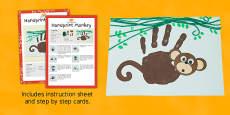 Handprint Monkey Craft Instructions